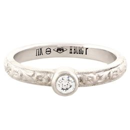 """Strength & Devotion"" Platinum Vintage Diamond Engagement Ring"
