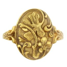 """""""Luck and Prosperity"""" 18k yellow gold Whimsical Ring"""