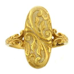 """Enduring Love"" 18k Yellow Gold Whimsical Ring"