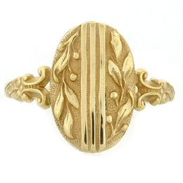 """""""Peace and Goodwill"""" 18k Yellow Gold Whimsical Ring"""