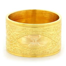 """Enduring Love"" Vintage Engraved 18k Yellow Gold  Ring"