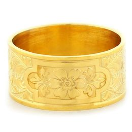 """Aphrodite's Flower"" Vintage Engraved 18k Yellow Gold Ring"