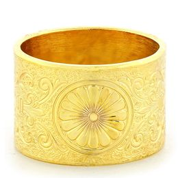 """Loyal Love"" Vintage Engraved 18k Yellow Gold Ring"