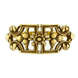 """""""Forever Yours"""" Vintage 18k Yellow Gold Filigree Cigar Band Ring"""