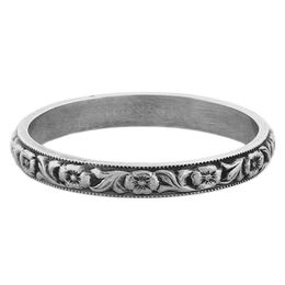 """Devotion"" Vintage Sterling Silver Stacking Ring"
