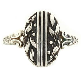 """""""Peace and Goodwill"""" Sterling Silver Whimsical Ring"""