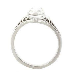 """Harmony & Balance"" Platinum Oval Diamond Filigree Engagement Ring"