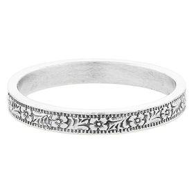 Vintage Platinum Stacking Ring
