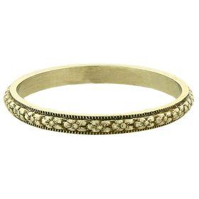 """Petite Orange Blossom"" Vintage 14k Green Gold Stacking Ring"