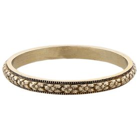 """Petite Orange Blossom"" Vintage 14k White Gold Stacking Ring"