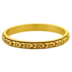 """Fruitful Marriage"" Vintage 18k Yellow Gold Stacking Ring"