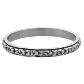 """""""Fruitful Marriage"""" Vintage Sterling Silver Stacking Ring"""