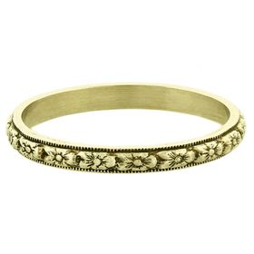 """Fruitful Marriage"" Vintage 14k Green Gold Stacking Ring"