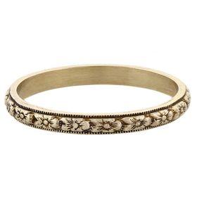 """""""Fruitful Marriage"""" Vintage 14k White Gold Stacking Ring"""