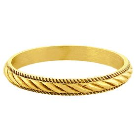 """""""Twisted Rope"""" Vintage 18k Yellow Gold Stacking Ring"""