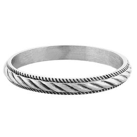 """""""Twisted Rope"""" Vintage Sterling Silver Stacking Ring"""