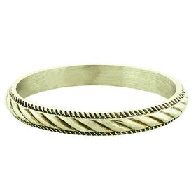 """""""Twisted Rope"""" Vintage 14k Green Gold Stacking Ring"""