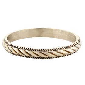 """""""Twisted Rope"""" Vintage 14k White Gold Stacking Ring"""