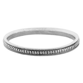 """""""Refinement"""" Vintage Sterling Silver Stacking Ring"""