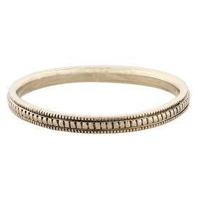 """Refinement"" Vintage 14k White Gold Stacking Ring"